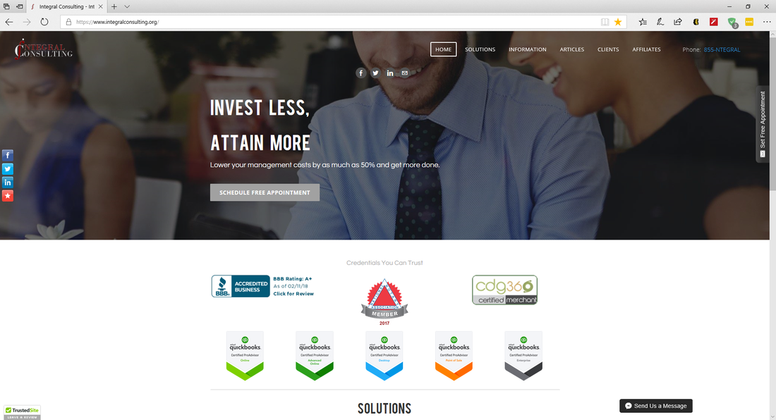 Integral Consulting Website